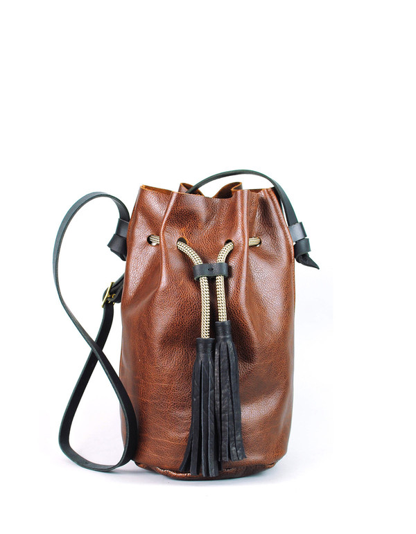 Eleven Thirty Christie Large Bucket Bag Cognac