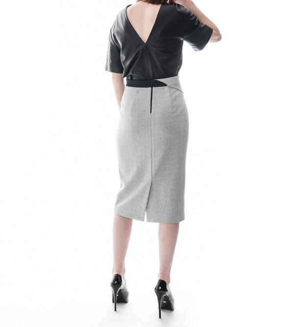 Dion Lee Asphalt Crepe Skirt