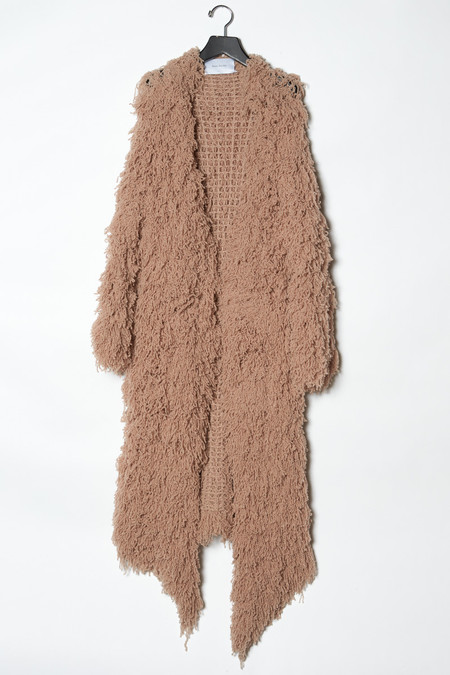 Ryan Roche Long Furry Cardigan