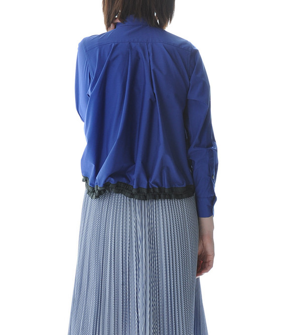 Sacai Luck Blue Blouse Drawstring