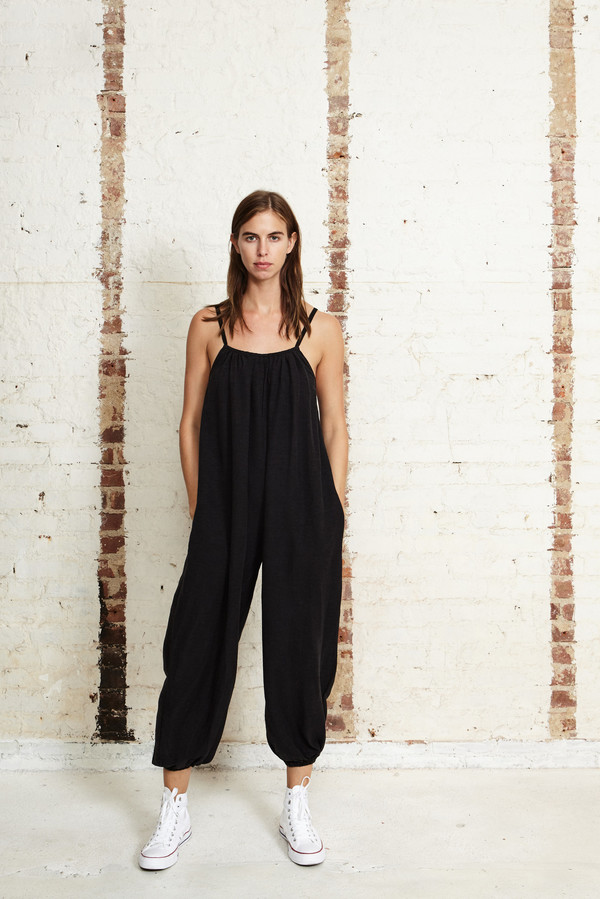 OffSeasonNYC Apolune Lounger Silk Slub Noile Black