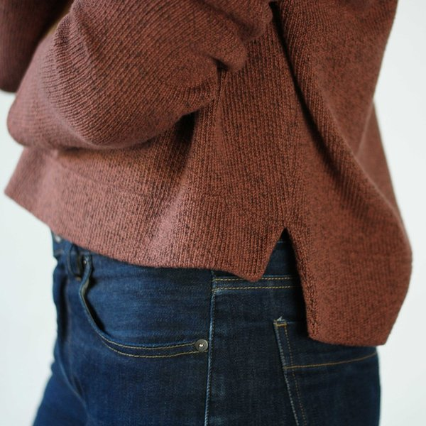 Curator Crop Sweater in Spice