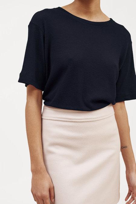 Waltz Fine-Ribbed Wool T-Shirt – Midnight
