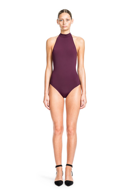 Beth Richards Monroe One Piece - Port MOCK NECK HALTER ONE PIECE