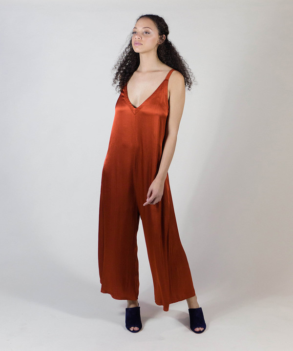 Lacausa Blood Orange Santi Jumpsuit