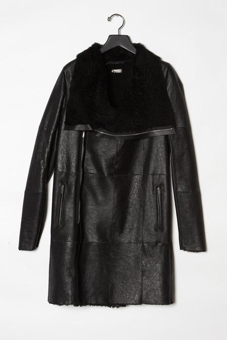 Anne Vest  Long Crackled  Reversible Shearling