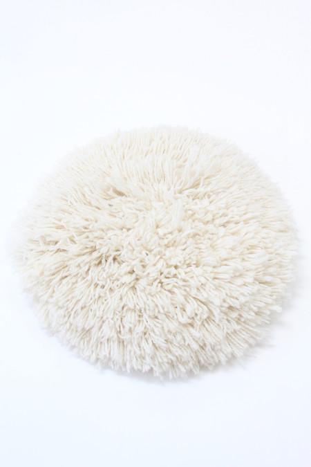 Artist Alpaca Handmade Fringe Pillows Large Ivory Solid