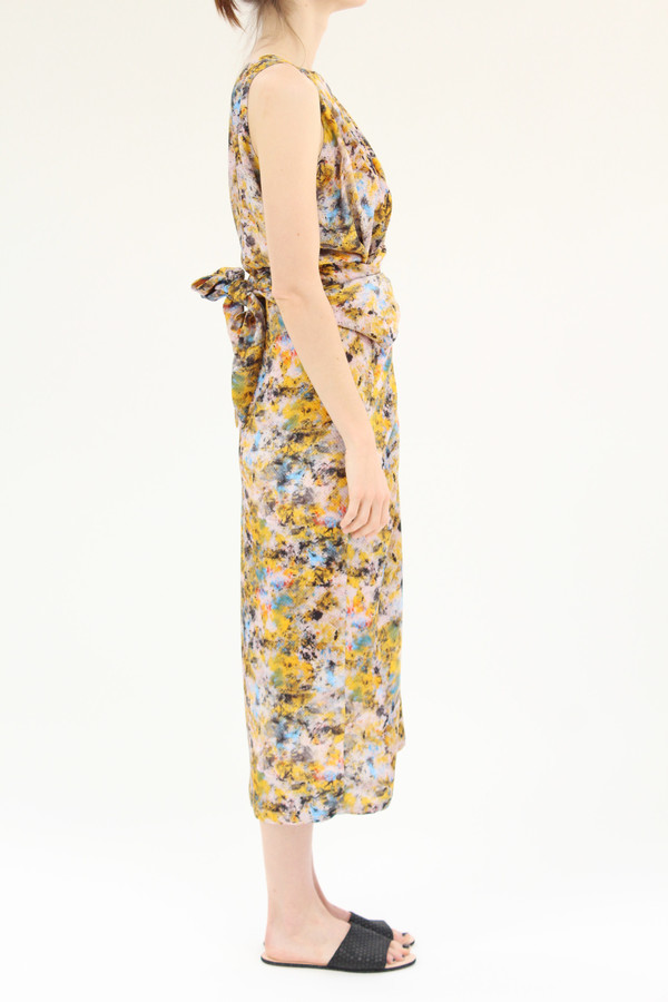 Anntian Print Long Dress Winder