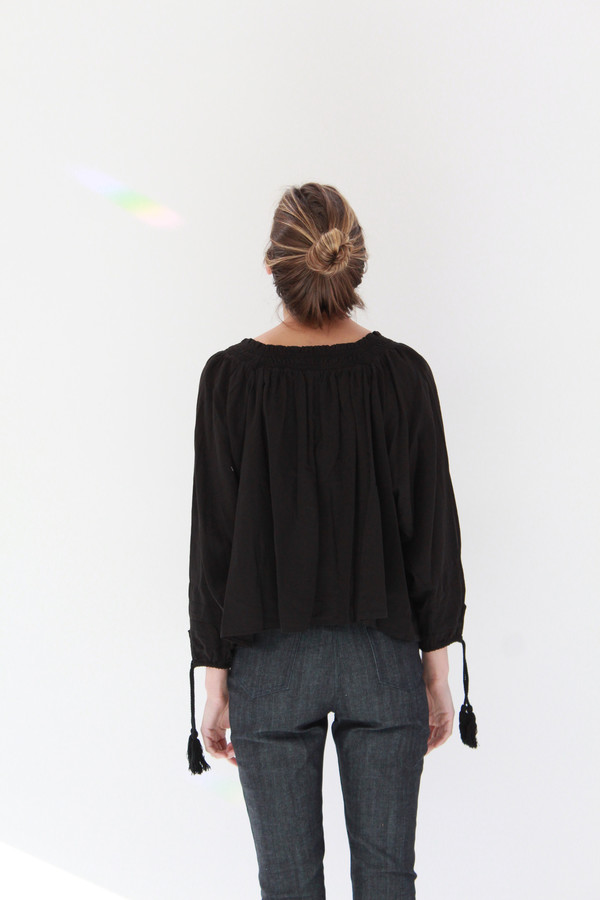 Apiece Apart Glorietta Square Neck Top Black