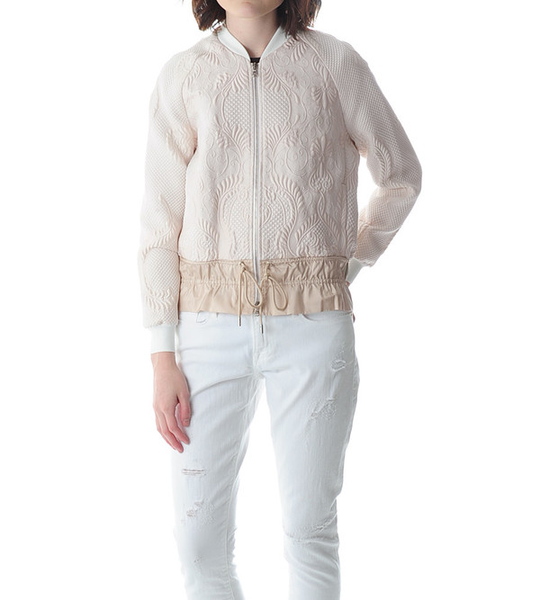 3.1 Phillip Lim Cloque Bomber with Drawstring Cinched Hem