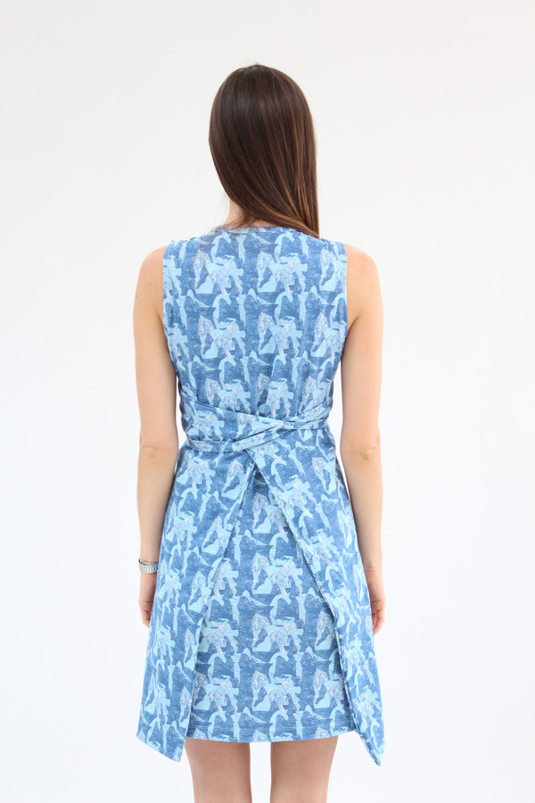 Beklina Criss Cross Jersey Wrap Dress Print