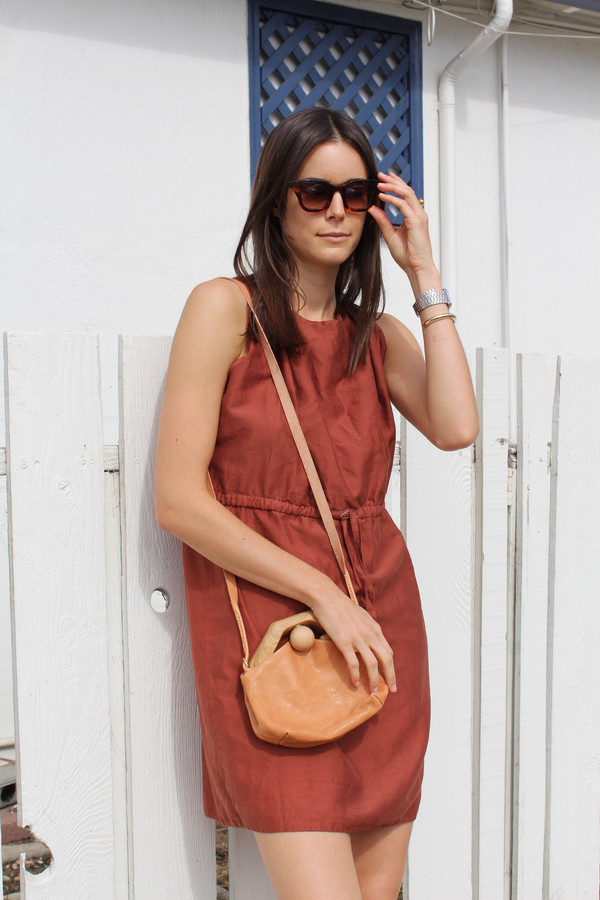 Beklina Hoda Tie Dress Rust