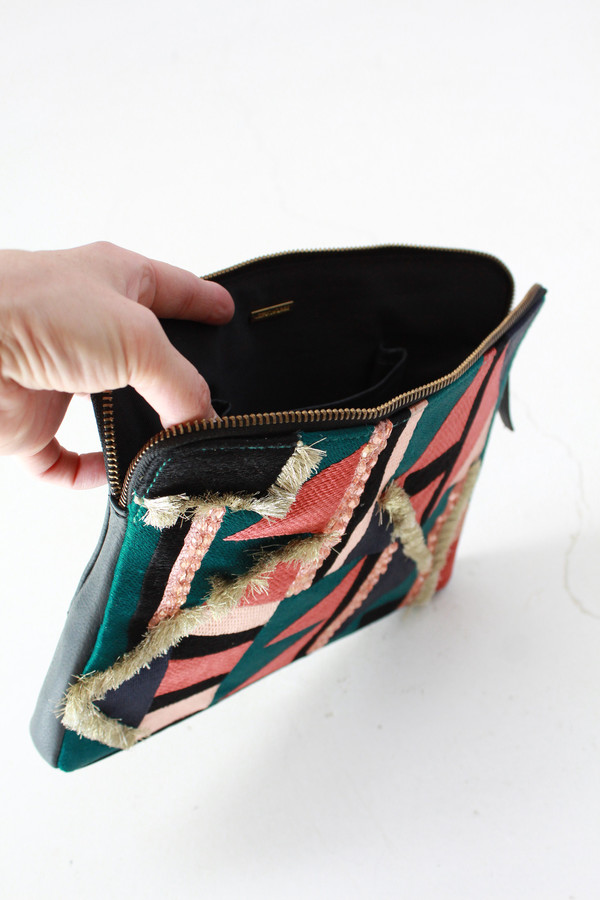 Lizzie Fortunato Safari Clutch Tahiti Triangle