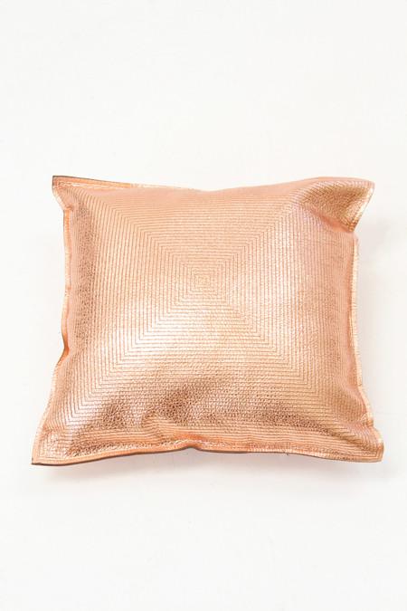 Molly Designs Metallic Copper Pillow Concentric