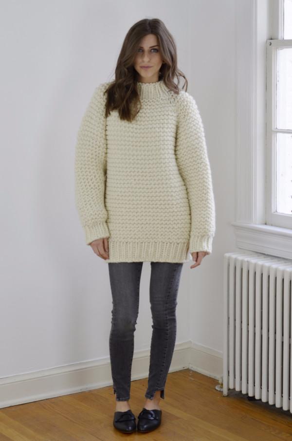 I Love Mr. Mittens Wool Boxy Sweater - Cream