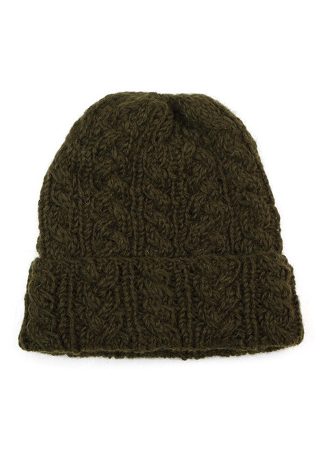 Bridge & Burn Cable Knit Watch Cap Forest
