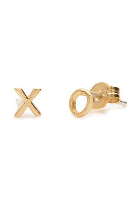 """Bing Bang NYC """"XO"""" Stud Earrings"""