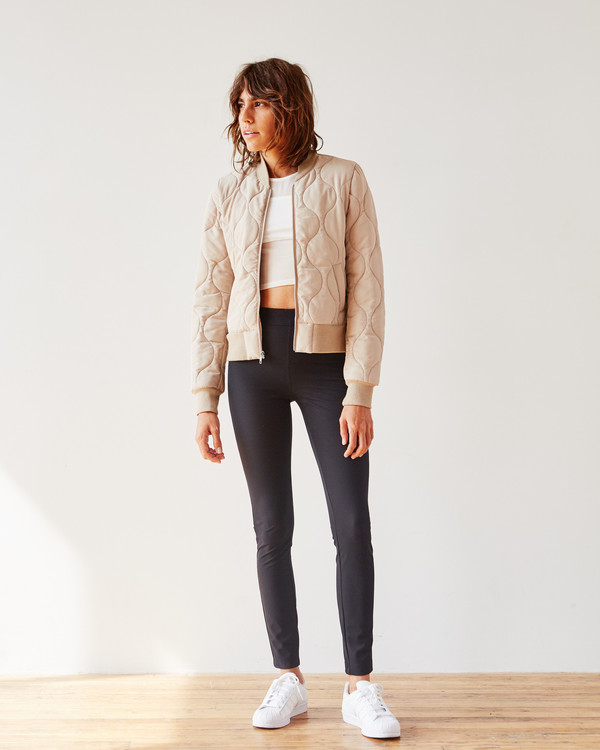 PIECE NYC Luxe Bomber - Tan