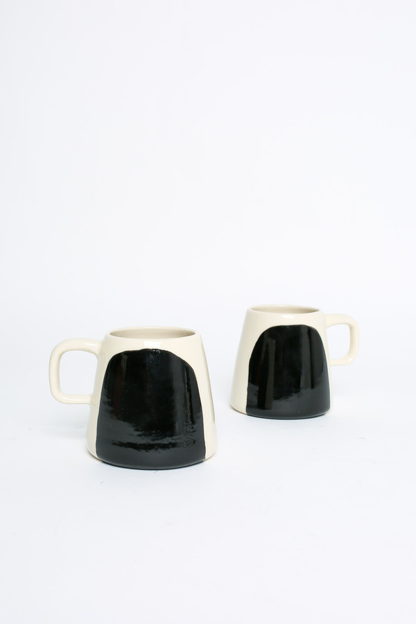 BTW Ceramics Panda Mug in Contrast Series