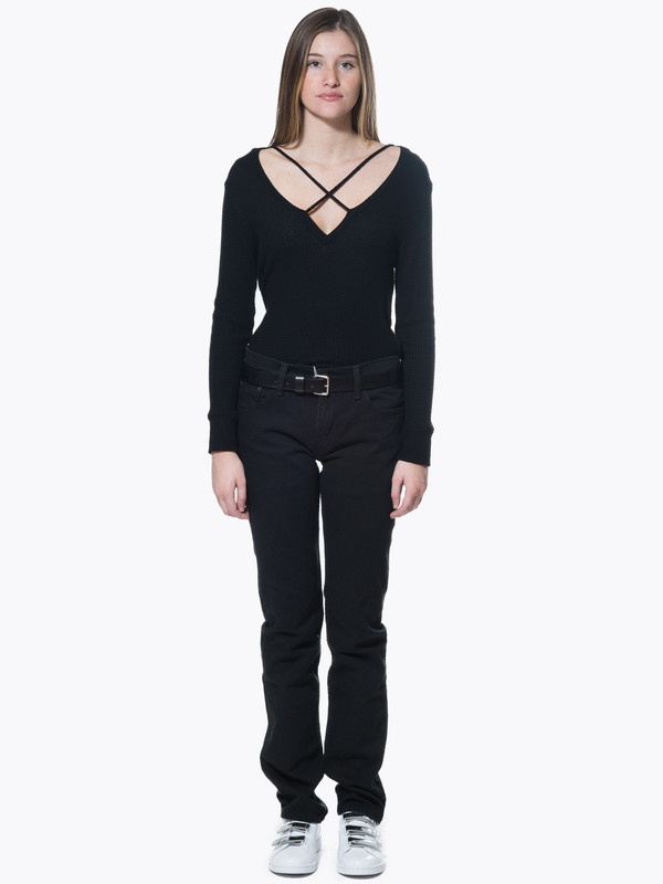 LNA Cross Strap Sweater