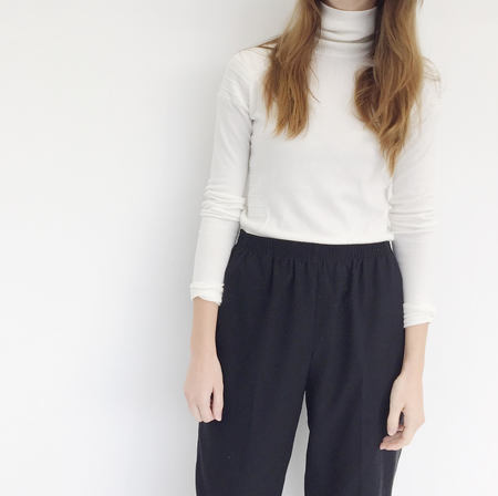 Johan Vintage Ivory Turtleneck Sweater