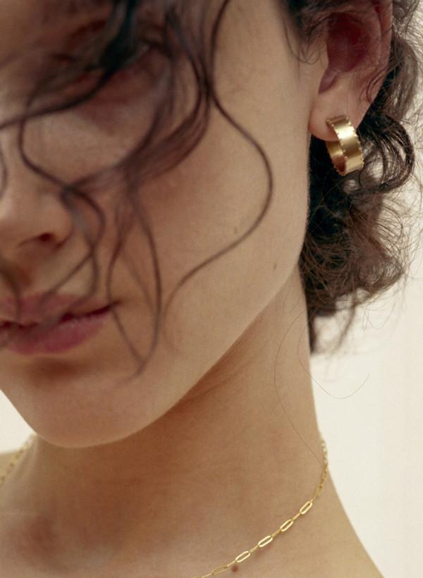 Laura Lombardi Mini Cuoro Hoop Earrings