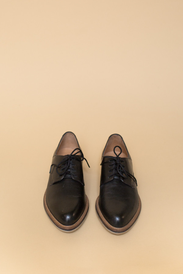 SEY Hoodlum Oxfords - Black Leather