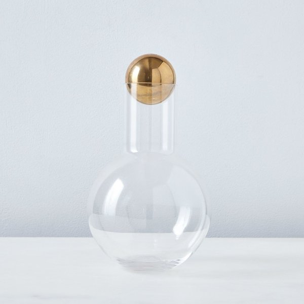 Anna Karlin Glass + Brass  Decanter