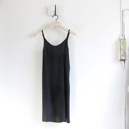 Elsa Esturgie Piano slip dress - black