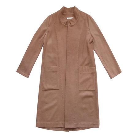 Ali Golden Wool Notch Coat - Copper