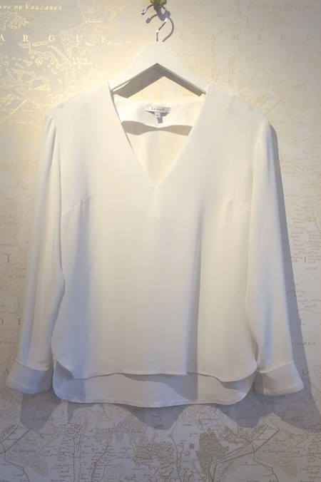 Leisure Silk V-Neck Top