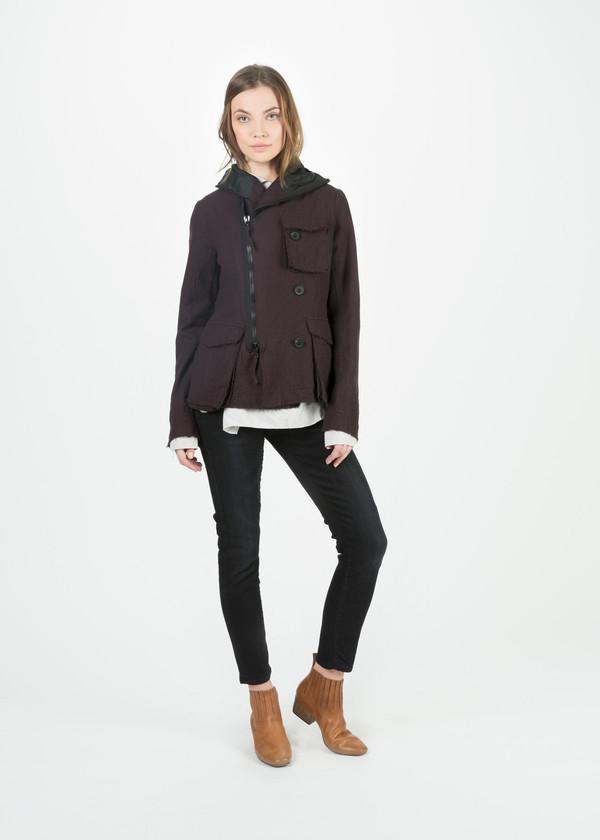 Rundholz Hooded Offset Zip Jacket