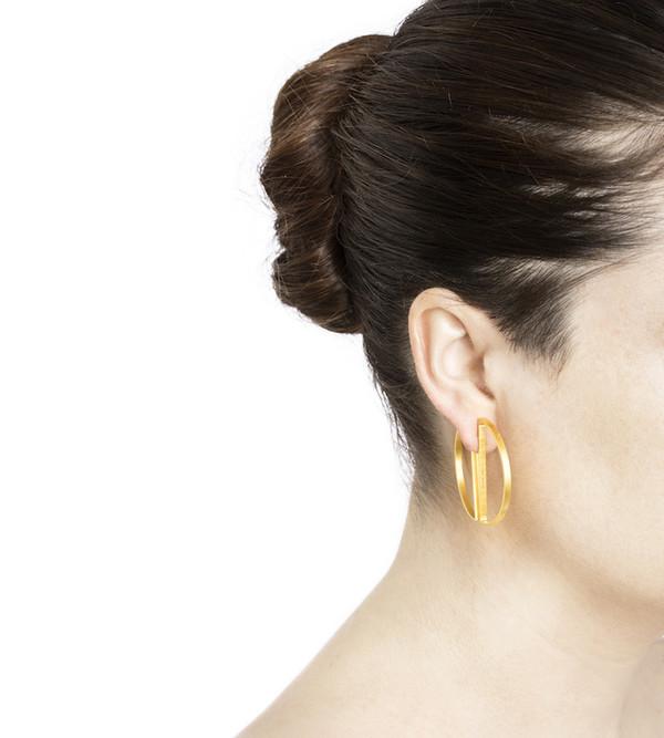 Maria Black Half Hoop Earring