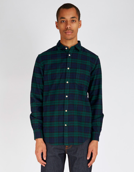 Men's No Nationality Dexter Flannel Plaid Shirt Green