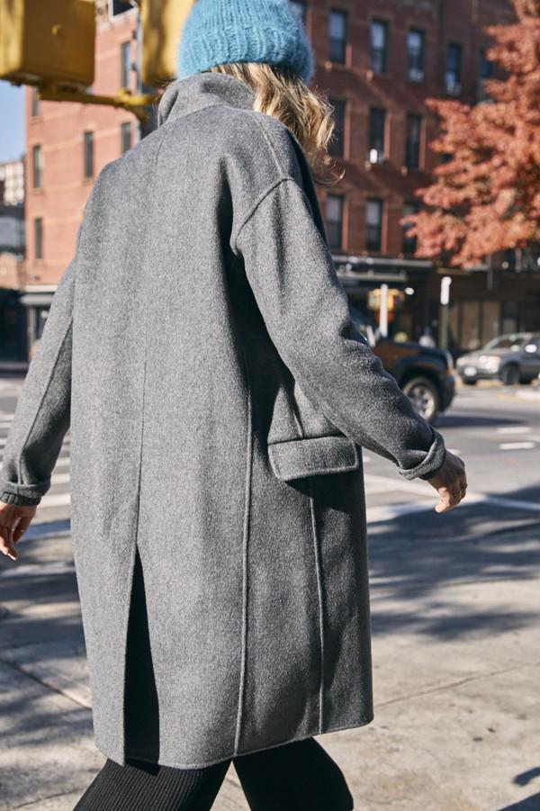 Achro Handmade Long Coat - Grey