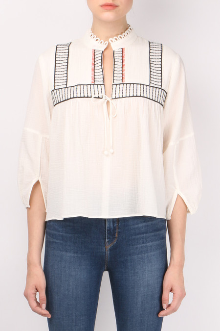 Apiece Apart Embroidered Loreto Blouse