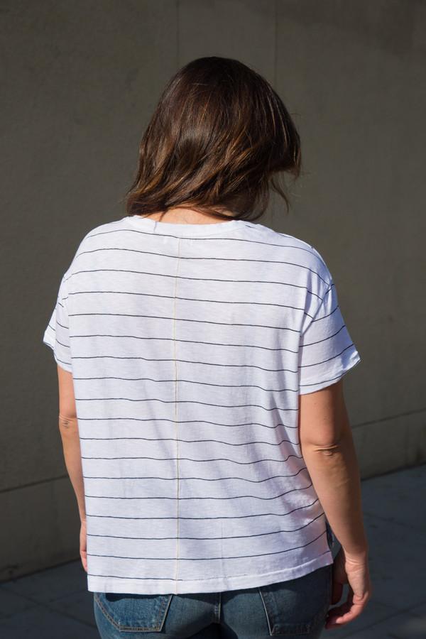 sundry striped slub tee