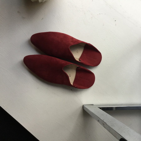 Carrie Forbes Babouche Slipper - Bordeaux