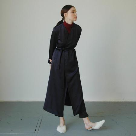 Nikki Chasin Navy Moretti Robe