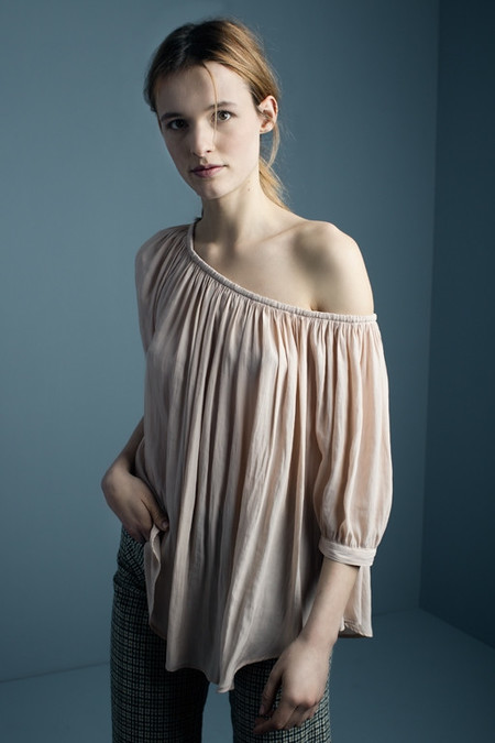 Smythe Gipset Blouse in Shell Pink