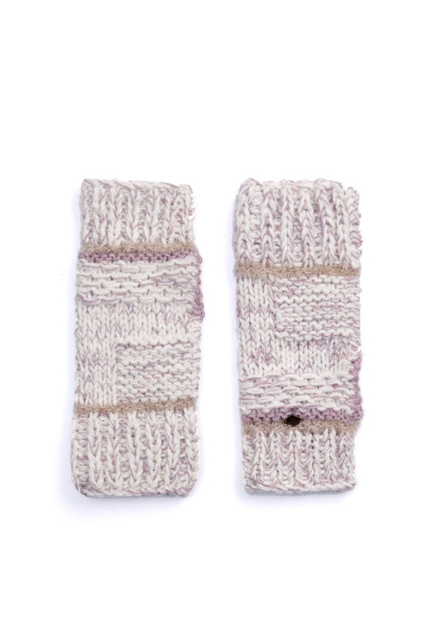 EMILIME Wall Fingerless Gloves Soft Lavender