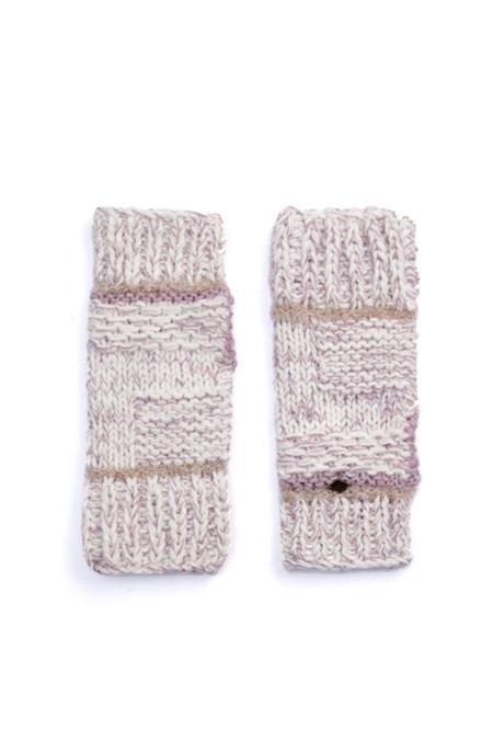 EMILIME Wall Fingerless Gloves Soft Lavender