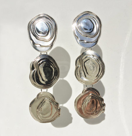 Leigh Miller Sterling Silver On the Halfshell Earrings