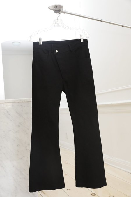 Collina Strada Denim Ineguale Pant - Wide Black