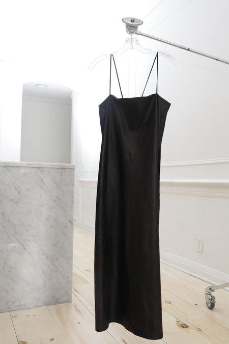 Collina Strada El Morro Long Black Leather Dress