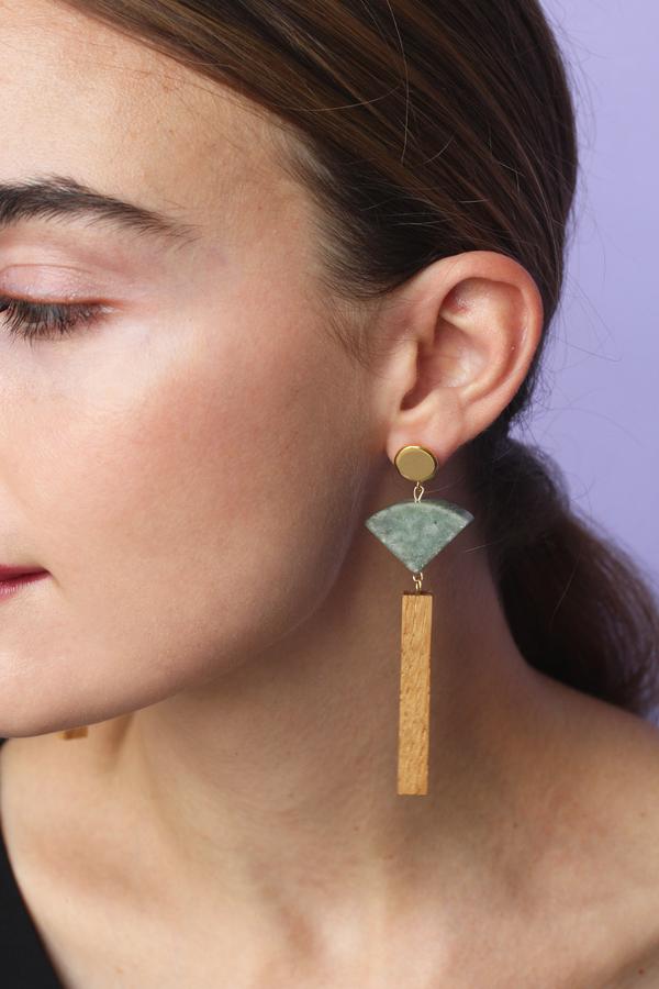 Sophie Monet Mineral Fan Earrings