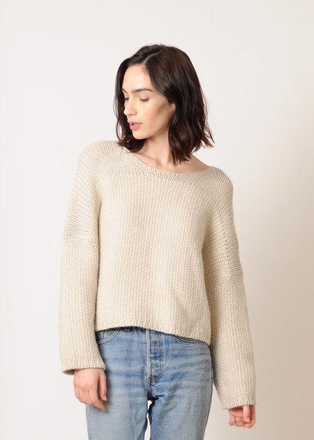 Micaela Greg Woven Stitch Sweater