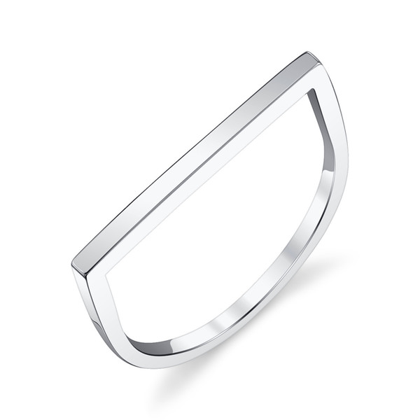 Gabriela Artigas - 14k White Gold Flat Axis Ring