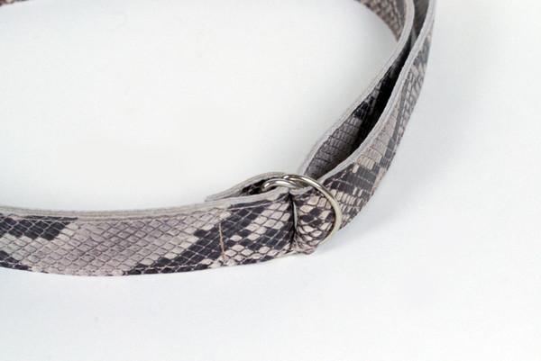 Clyde D Ring Belt in Python