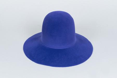 Clyde Wide Brim Dome Hat in True Blue